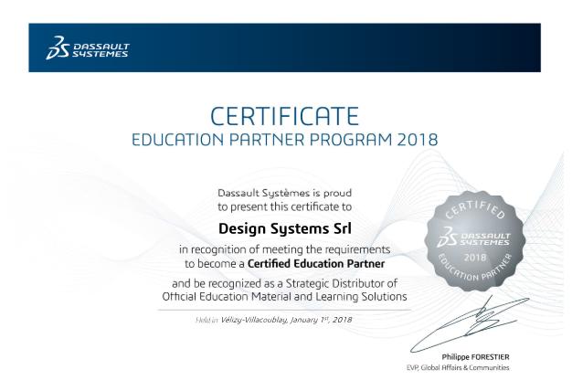 VS platinum partner e certified education partner 2018_DESIGN SYSTEMS